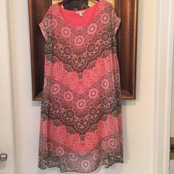 Dana Buchman Dresses & Skirts - Dana Buchanan Sheer Dress with Lining XL